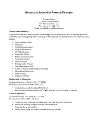 Tv Reporter Resume Sample Journalist Actuary Example For Mass