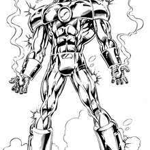 Small Picture Iron man with his best armor Coloring page SUPER HEROES
