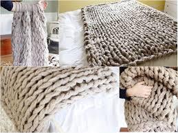 view in gallery arm knit a blanket wonderfuldiy 2 fancy 45 minutes diy arm knitted blanket