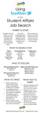 the placement blog using twitter in your student affairs job the placement blog using twitter in your student affairs job search infographic by