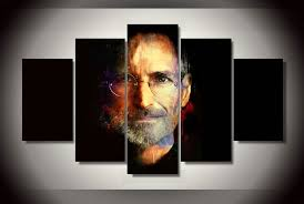5 piece unframed printed steve jobs painting on canvas room decoration print poster picture canvas painting stretch canvas art find this pin and more