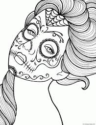 People Coloring Pages For Kids With Printable Skull Coloring Sheets