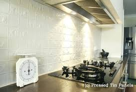 tin wall panels pressed tin panels wall panel design installed example kitchen splash back powder coat tin wall