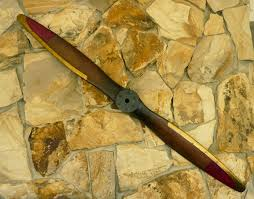 large vintage wood propeller