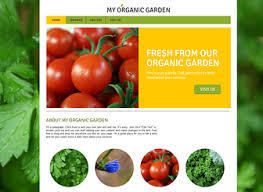 Small Picture Garden Services Website Template WIX