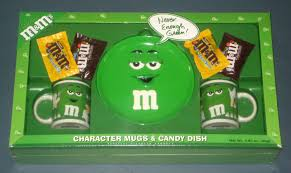 plain green m m s character mugs candy dish plate gift set ceramic galerie never enough nip