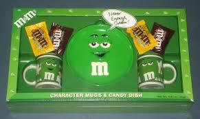 plain green m m s character mugs candy dish plate gift set ceramic galerie never enough nip