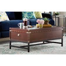 Hammary Hidden Treasures Trunk Coffee Table Chest Coffee Table Trent Austin Aztec Trunk Coffee Table Coffee