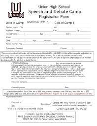 Field Trip Permission Letter Camp Permission Slip Template