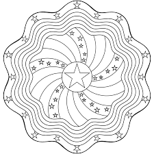 Small Picture Dont Eat the Paste Stars and Stripes Mandala Coloring Page