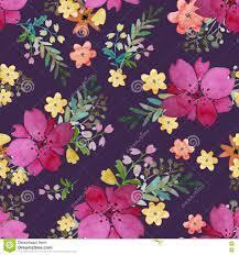 Romantisch Bloemen Naadloos Patroon Met Roze Bloemen En Blad Druk