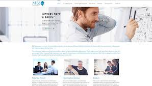 mbs insurance website design