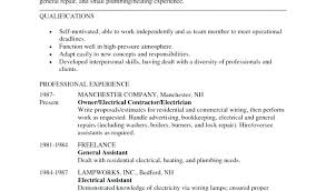 Electrician Resumes Samples Electrician Apprentice Resume Sample ...