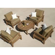 royal teak collection miami 4 person teak deep seating set ultimate patio