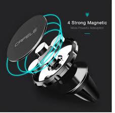 Rubber+<b>Aluminum Alloy</b> Cafele <b>Car</b> Phone Holder <b>Magnetic</b> Air ...