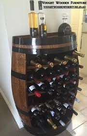 wine barrel wine rack furniture. Half Barrel Wine Rack (stained \u0026 Varnished) Furniture A