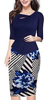 Homeyee Womens Elegant Chic Bodycon Formal Dress B288 M L