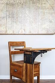 adorable red vintage school desk maisondepax com