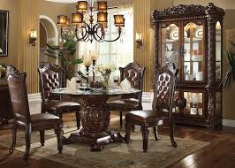 formal round dining room sets. vendome round formal dining room set with glass table top sets s