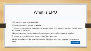 Local Purchase Order What Is Lpo Local Purchase Order Itil V3 In Urdu Hindi