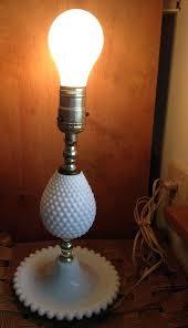 milk glass lamps vintage milk glass lamp hobnail electric bedside lamp no shade milk glass lighting