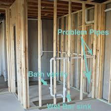 How to frame a closet Walls First We Thought Builtin Bench Could Conceal The Pipe The Builder Could Frame In The Bench Cover The Front And Side With Drywall And Add Wood Seat Tedspassivesolarhouses Weblog Wordpresscom Dont Be Afraid To Tell The Builder What You Want