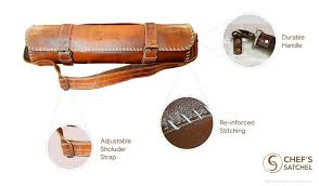 details about knife roll leather knife roll 8 slot knife bag kitchen tool free