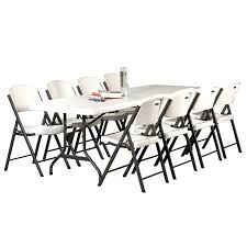 lifetime round folding tables lifetime tables almond in