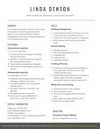 Example Of Resumes For Administrative Assistants Administrative Assistant Functional Resume Example