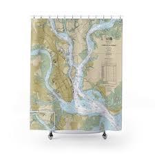 Charleston Nautical Chart Charleston Harbor Nautical Chart Shower Curtains Chart Mugs