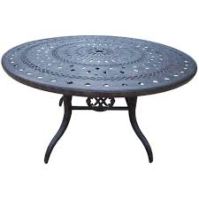 aluminum round outdoor patio dining table