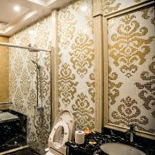 bathroom mosaic wall tiles color similar real gold and white glass mosaic tile pictures pattern wall decoration white mosaic bathroom wall tiles