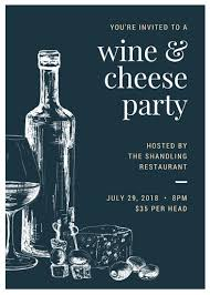 invitation flyer wine and cheese invite flyer templates by canva