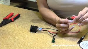 illuminated on off rocker switch with wiring s