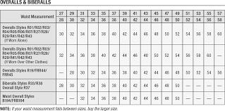 18 High Quality Carhartt Bib Sizing Chart