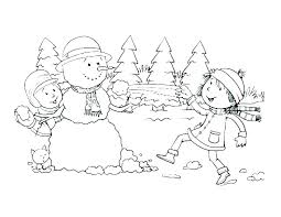 winter coloring pages for preschool free printable pictures to color sheets animals