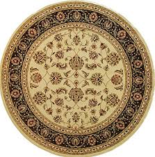well woven barclay sarouk ivory traditional area rug 5 3 round b009kskxcs