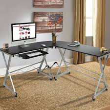 Office Best Choice Products Wood Lshape Corner Computer Desk And