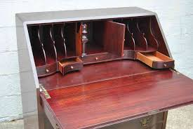 antique drop front secretary desk with hutch