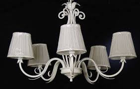shabby chic antique white forged chandelier with lampshades italian art b52