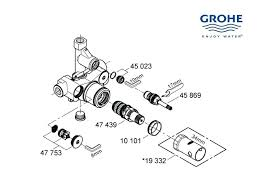 grohe shower valve shower valve parts awesome mixer valve shower spares and parts grohe shower valve