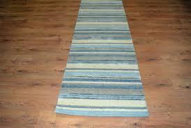 blue striped runner rug