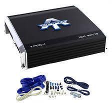 autotek car amplifiers autotek ta1050 4 4 channel 1000 watt amp car audio power amplifier wiring kit