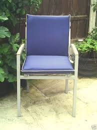 low back shower proof blue garden chair