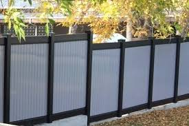 twotoned black and gray privacy two tone vinyl privacy fence24 privacy