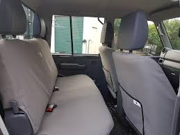 black duck seat covers rear bench double cab suitable for toyota landcruiser vdj79 series