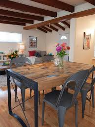 Industrial Kitchen Table Furniture Photos Chic Open Dining Room With Industrial Table Chairs Hotel
