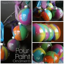 pour paint ornaments