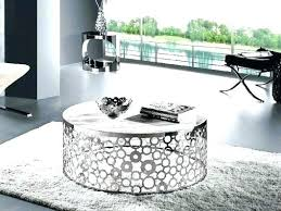 glass circular coffee table glass r coffee table the most silver circle regarding round side range