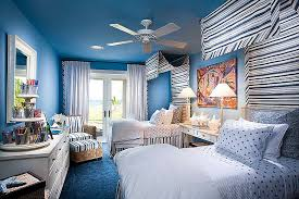 ... Trendy use of blue in the tropical bedroom [Design: Wissmach Architects]